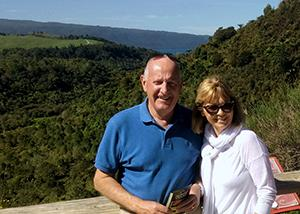 Lake Tarawera lookout - Mike and Karen Cox - MoaTrek Review