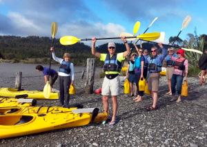 MoaTrek group kayaking with a good mood - Tour Review