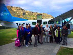 MoaTrek guests ready for the scenic flight - Tour Review