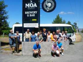 MoaTrek guests enjoying the brewery - Tour Review