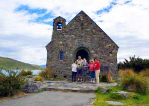 MoaTrek guests near Church of the Good Shepherd - Tour Review