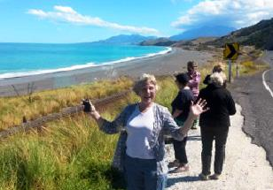 Mary enjoying the West Coast of South island - Tour Review