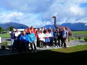 MoaTrek guests discovering NZ native bird moa - Tour Review