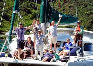 MoaTrek guests having a happy afternoon on the boat - Tour Review