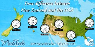 Time difference between New Zealand and USA MoaTrek NZ Tours