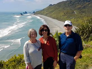 MoaTrek travellers at the Punakaiki lookout