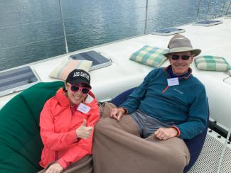 Greg & Anna sailing Lake Rotoiti