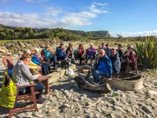 Beach Bonfire with Guests Punakaiki