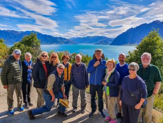 MoaTrek travellers at Lake Hawea in the South Island