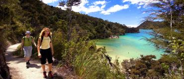 Walking on the coastal track - Abel Tasman National Park Tours