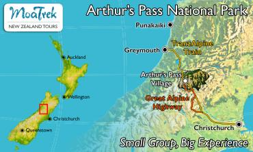 Arthur's Pass National Park Location Map