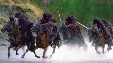 Black riders in the river - Lord of the Rings Tours