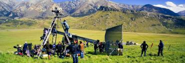 Film crew outdoors in Cantebury - Lord of the Rings NZ