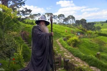 Gandalf in Hobbiton - Lord of the Rings Tours NZ