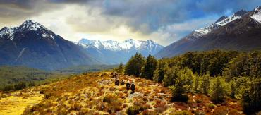 Dwarves and Hobbits crossing the mountaintops, Glenorchy NZ - Lord of the Rings Tours