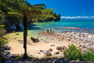 Beautiful coastline in Abel Tasman National Park - NZ North and South Island Itinerary