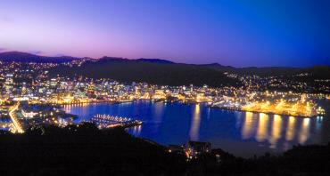 The lights of Wellington at night - NZ North and South Island Itinerary