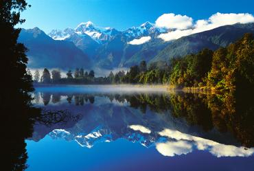 Reflections of Mt Cook in Lake Matheson - NZ South Island Itinerary