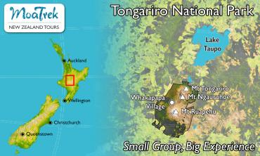 Tongariro National Park Location Map