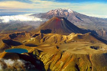 Volcanic landscape on Tongariro National Park Tours