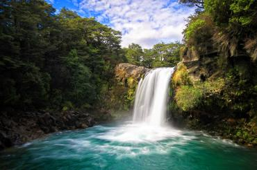 Waterfall and Gollum's pool - Tongariro National Park Tours