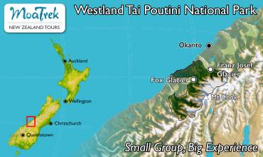 Westland Tai Poutini National Park Location Map