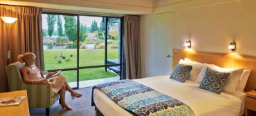 Lake views from the rooms at Edgewater Wanaka - MoaTrek Tour Accommodation
