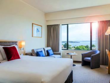 Lake views from your room at the Novotel Lakeside Rotorua - MoaTrek Tour Accommodation