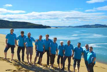 MoaTrek kiwi guides on the Hokianga sand dunes