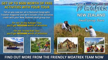 New Zealand Tour Special for National Geographic Traveler Readers