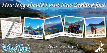 Image montage of where you can visit in New Zealand in 14 days