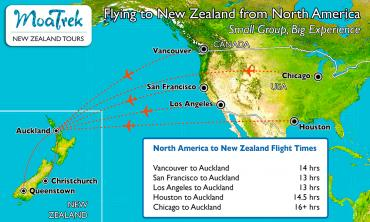Flight times from the USA to New Zealand | MoaTrek