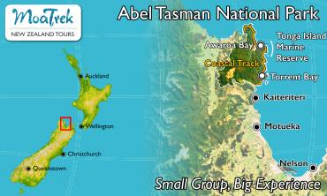 Abel Tasman National Park Location Map