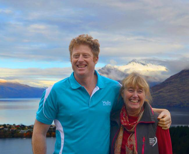 Ena and Miles from MoaTrek on Queenstown Hill, Lake Wakatipu views