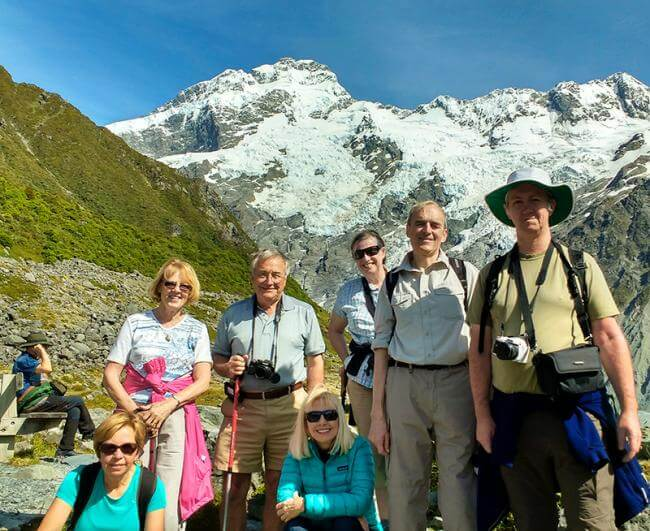 Walking group in Mt Cook