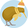 MoaTrek Winter Kiwi Icon